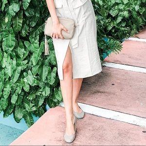 Tieks Taupe Leather Slip On Ballet Flats Size 8